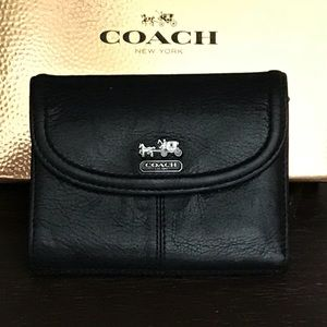 Coach Pebbled Leather Bifold Wallet